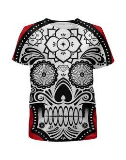 """Футболка с полной запечаткой для мальчиков """"Santa Muerte skull"""" - skull, череп, мексика, mexico, санта муерте"""