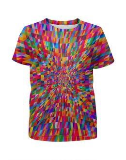 """Футболка с полной запечаткой для мальчиков """"Абстракция треугольники"""" - графика, краски, абстракция, цветные, треугольники"""