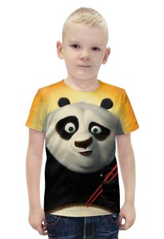 """Футболка с полной запечаткой для мальчиков """"Кунг-Фу Панда"""" - животные, мультфильм, panda"""
