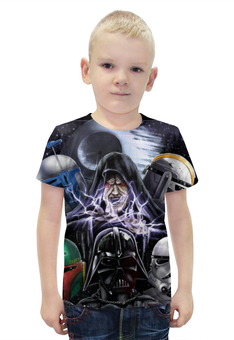 """Футболка с полной запечаткой для мальчиков """"Звёздные войны / Star Wars / Дарт Вейдер"""" - рисунок, star wars, дарт вейдер, клоны"""