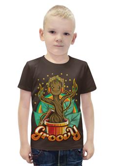 """Футболка с полной запечаткой для мальчиков """"Грут (Groot)"""" - грут, guardians of the galaxy, groovy, стражей галактики"""