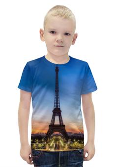 """Футболка с полной запечаткой для мальчиков """"Париж"""" - париж"""