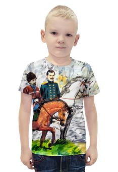 """Футболка с полной запечаткой для мальчиков """"Приключения на Кавказе"""" - ручная работа, детский рисунок, от детей, детская работа"""