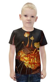 """Футболка с полной запечаткой для мальчиков """"Infected Mushroom"""" - trance, infected mushroom, психоделический транс"""