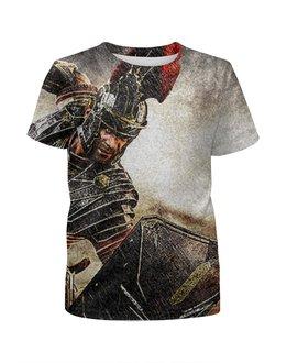"""Футболка с полной запечаткой для мальчиков """"Имя нам Легион"""" - рим, спарта, легионер"""