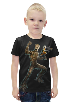 """Футболка с полной запечаткой для мальчиков """"Rocket Raccoon and Groot/Енот Ракета и Грут"""" - marvel, енот, ракета, rocket, rocket raccoon"""
