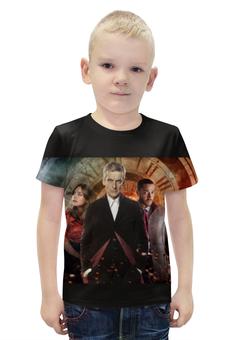 """Футболка с полной запечаткой для мальчиков """"Doctor Who"""" - doctor who, доктор кто, питер капальди"""