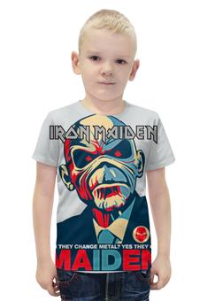 """Футболка с полной запечаткой для мальчиков """"Iron Maiden Band"""" - heavy metal, iron maiden, eddie, nwobhm, хеви метал"""