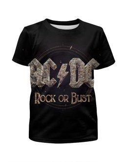"""Футболка с полной запечаткой для мальчиков """"AC/DC """" - heavy metal, ac dc, рок музыка, хэви метал, rock music"""