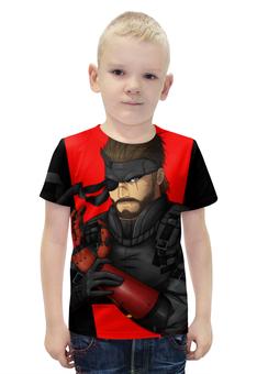 """Футболка с полной запечаткой для мальчиков """"Big Boss (Metal Gear Solid)"""" - metal gear, solid snake, big boss"""
