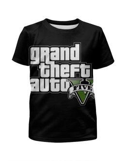 """Футболка с полной запечаткой для мальчиков """"Grand Theft Auto , гта , gta"""" - grand theft auto, gta, гта"""