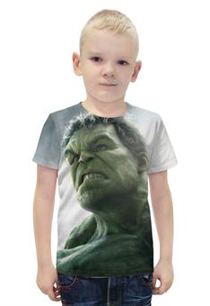 """Футболка с полной запечаткой для мальчиков """"Халк (Hulk)"""" - hulk, мстители, avengers, марвел, халк"""