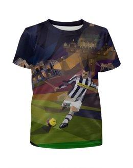 """Футболка с полной запечаткой для мальчиков """"Футбольная мозайка"""" - футбол, 3д, алессандро дель пьеро"""