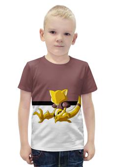 """Футболка с полной запечаткой для мальчиков """"Покемон Абра """" - pokemon, покемон, абра, abra"""
