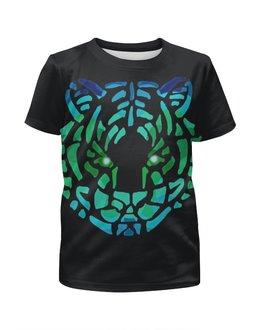 """Футболка с полной запечаткой для мальчиков """"Tiger"""" - tiger, тигр, необычный"""
