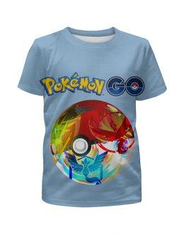 """Футболка с полной запечаткой для мальчиков """"Pokemon Go"""" - покемоны, покебол"""