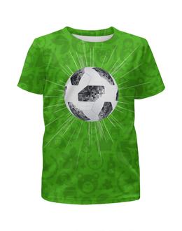 """Футболка с полной запечаткой для мальчиков """"РОССИЯ (футбол)"""" - чемпионат, символика, россия, футбол, мяч"""