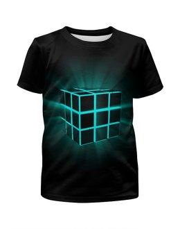 """Футболка с полной запечаткой для мальчиков """"Кубик Рубика"""" - арт, кубик рубика"""