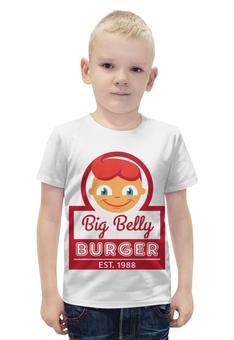 """Футболка с полной запечаткой для мальчиков """"Big Belly Burger"""" - big belly burger"""