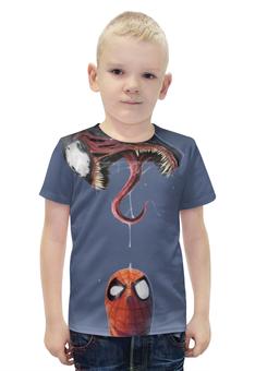 """Футболка с полной запечаткой для мальчиков """"Человек-паук и Веном"""" - venom, spider-man, человек-паук, веном"""