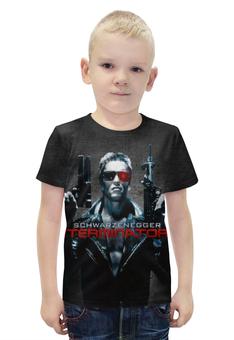 """Футболка с полной запечаткой для мальчиков """"Terminator"""" - арнольд, ретро, терминатор, the terminator, barreljumpers"""