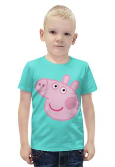"""Футболка с полной запечаткой для мальчиков """"Свинка Пеппа"""" - мультфильм, семья, свинка, пеппа, peppa pig"""
