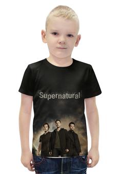 """Футболка с полной запечаткой для мальчиков """"Supernatural"""" - supernatural, сверхестественное"""