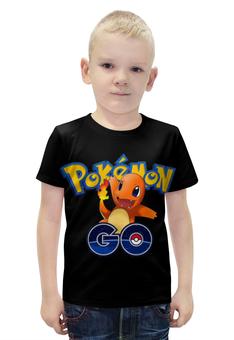"""Футболка с полной запечаткой для мальчиков """"Pokemon Go """" - покемоны, покебол"""