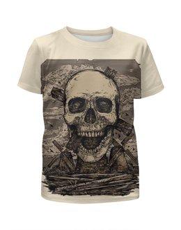 """Футболка с полной запечаткой для мальчиков """"Skull Art"""" - skull, череп, artwork, мельница, арт дизайн"""