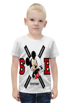 """Футболка с полной запечаткой для мальчиков """"sXe mouse"""" - здоровый образ жизни, зож, sxe"""