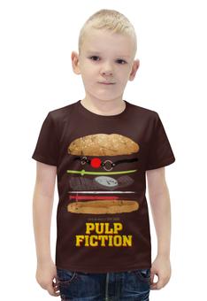 """Футболка с полной запечаткой для мальчиков """"Криминальное Чтиво (Pulp Fiction)"""" - тарантино, криминальное чтиво, pulp fiction"""