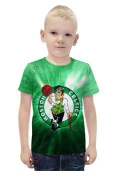 """Футболка с полной запечаткой для мальчиков """"Бостон Селтикс (Boston Celtics)"""" - бостон селтикс, boston celtics"""