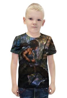 """Футболка с полной запечаткой для мальчиков """"Лара Крофт (Tomb Raider)"""" - tomb raider"""