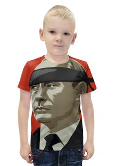 """Футболка с полной запечаткой для мальчиков """"Путин (Россия)"""" - россия, russia, путин, putin"""