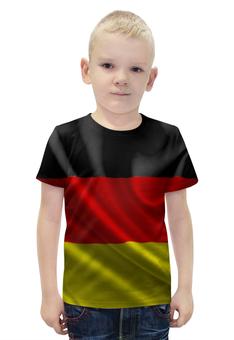 """Футболка с полной запечаткой для мальчиков """"Флаг Германии"""" - флаг, германия, germany"""