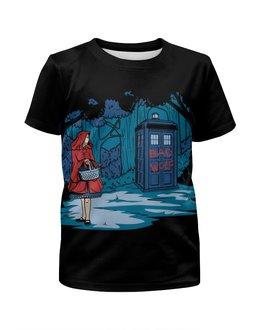 """Футболка с полной запечаткой для мальчиков """"Красная Шапочка (Доктор Кто)"""" - doctor who, tardis, доктор кто, тардис, bad wolf"""