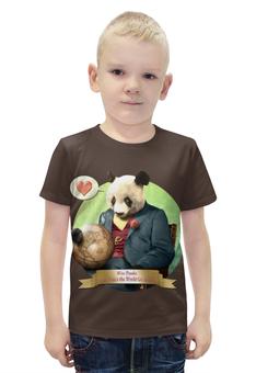 """Футболка с полной запечаткой для мальчиков """"Влюблённая панда"""" - панда"""