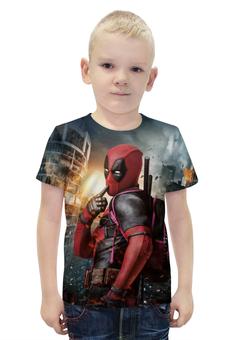 """Футболка с полной запечаткой для мальчиков """"Deadpool"""" - комиксы, marvel, марвел, убийца, дэдпул"""