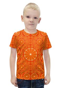 """Футболка с полной запечаткой для мальчиков """"Апельсины"""" - лето, позитив, summer, orange, апельсин"""