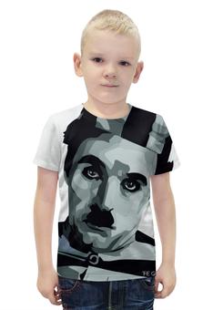 """Футболка с полной запечаткой для мальчиков """"Чарли Чаплин"""" - артист, charlie chaplin, немое кино, бродяга, великий диктатор"""