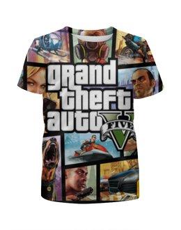 """Футболка с полной запечаткой для мальчиков """"Grand Theft Auto"""" - grand theft auto, gta, rockstar north"""