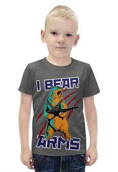 """Футболка с полной запечаткой для мальчиков """"Bear Arms"""" - животные, bear, армия, медведь, army"""