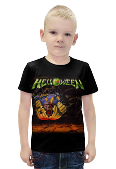 """Футболка с полной запечаткой для мальчиков """"Helloween ( rock band )"""" - heavy metal, helloween, рок музыка, хэви метал, rock music"""