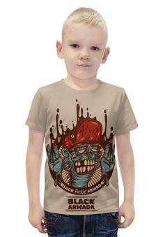 """Футболка с полной запечаткой для мальчиков """"Swag Art"""" - skull, череп, zombie, зомби, swag"""