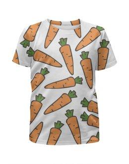 """Футболка с полной запечаткой для мальчиков """"Морковки"""" - лето, веган, здоровье, морковь, овощи"""