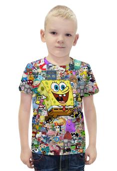 """Футболка с полной запечаткой для мальчиков """"Спанч Боб"""" - спанч боб, spongebob squarepants"""