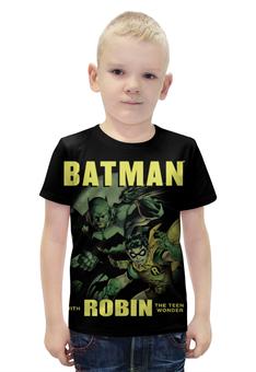"""Футболка с полной запечаткой для мальчиков """"Бэтмен и Робин"""" - комиксы, супергерои, бэтмен, робин"""