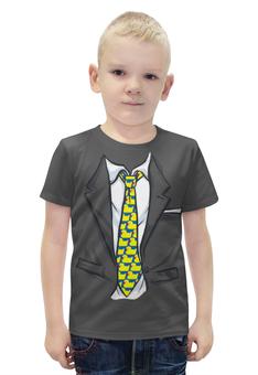 """Футболка с полной запечаткой для мальчиков """"Модный пиджак """" - галстук, костюм"""