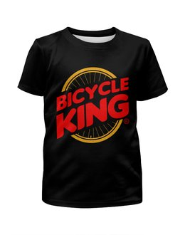 """Футболка с полной запечаткой для мальчиков """"Велосипедный король"""" - велосипед, бургер кинг, велосипедный король"""