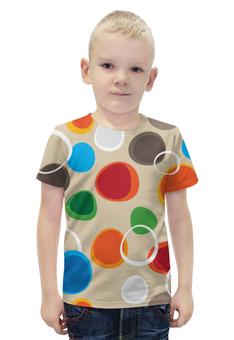 """Футболка с полной запечаткой для мальчиков """"Цветная абстракция"""" - узор, стиль, рисунок, орнамент, абстрактный"""